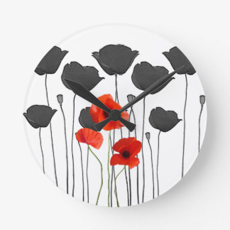 poppy round clock