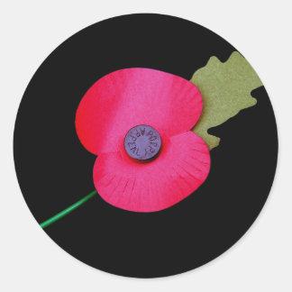 poppy  round sticker