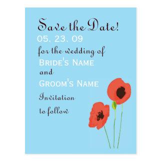 Poppy Save the Date Postcard
