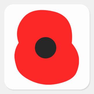 Poppy Square Sticker