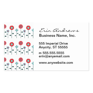 Poppy Summer pattern Pack Of Standard Business Cards