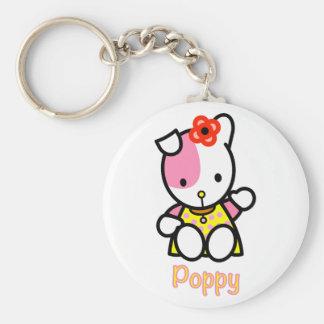 'POPPY' the puppy Key Ring