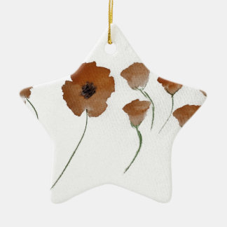 Poppy Watercolour Christmas Ornament