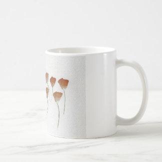 Poppy Watercolour Coffee Mugs