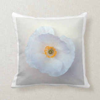 Poppy White Bloom Simple and Sweet Pillow