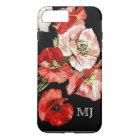 Poppy wild flower monogram iPhone 8 plus/7 plus case