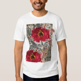 poppy with cherrywood t shirts