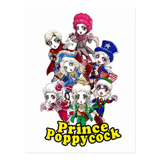 Poppycock Party Postcard