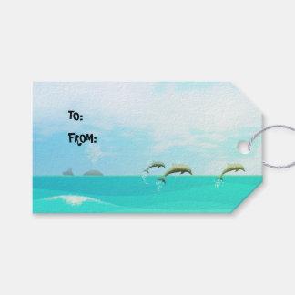 Pops' Peeps Beach Girl Gift Tags
