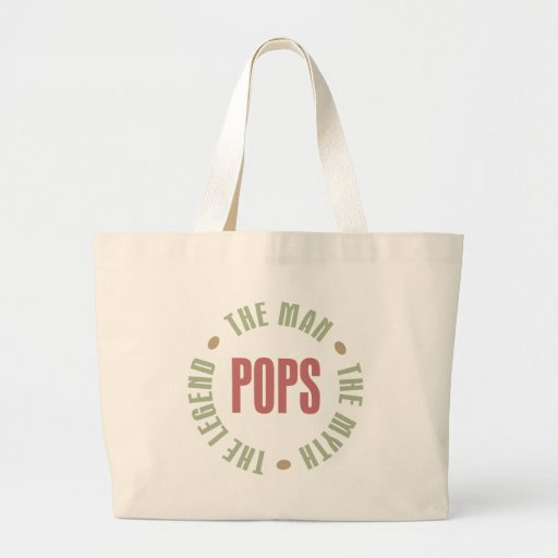 Pops the Man the Myth the Legend Design Jumbo Tote Bag
