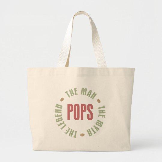 Pops the Man the Myth the Legend Design Large Tote Bag