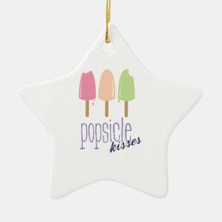 Popsicle Kisses Ceramic Star Decoration