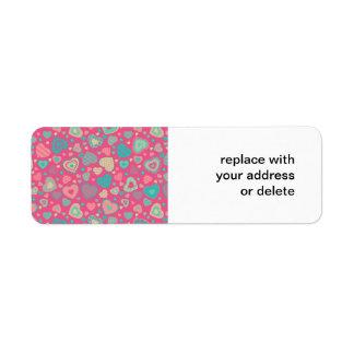 popsicle love - tiny heart pattern return address label