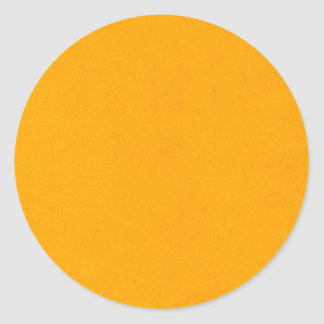 popsicle orange classic round sticker