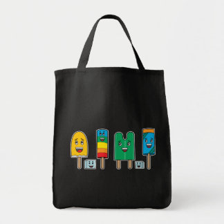 Popsicle Parade - Grocery Tote Bags