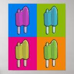 Popsicle Pop Art Poster