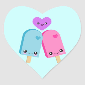 Popsicle Sweet Kawaii Heart Stickers