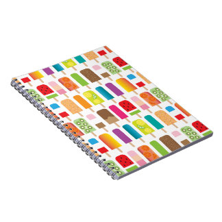Popsicles and Ice Cream Bars Sweet Dessert Treats Notebook