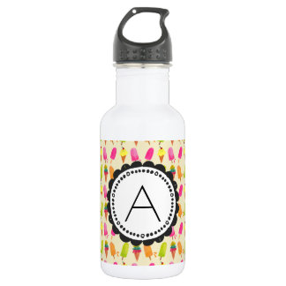 Popsicles and Ice Cream Personalized Monogram 532 Ml Water Bottle