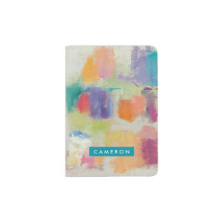 Popsicles Horizontal Stone Abstract Print Passport Holder