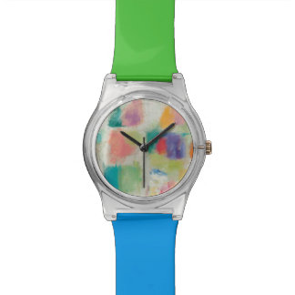 Popsicles Horizontal Stone Abstract Print Watch