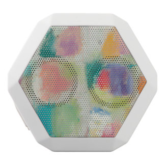 Popsicles Horizontal Stone Abstract Print White Bluetooth Speaker