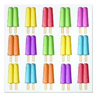 Popsicles - SRF 13 Cm X 13 Cm Square Invitation Card