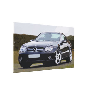 Popular Black Car Displaying, Simple Design Canvas