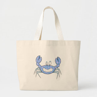 Popular Blue Crabby Crab Unique Cute Gift Present Large Tote Bag