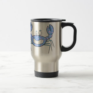 Popular Blue Crabby Crab Unique Cute Gift Present Travel Mug
