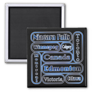 Popular Canadian Cities Magnet