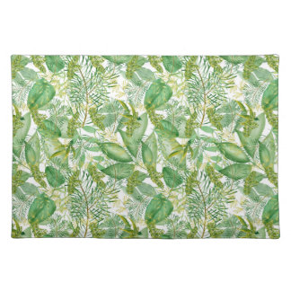 Popular green leaf pattern home decor placemat
