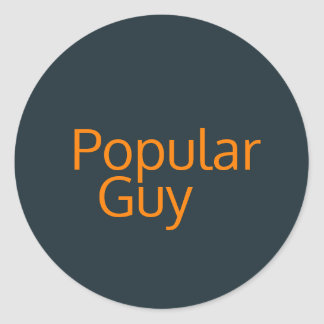 Popular Guy Sticker