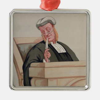 Popular Judgement Silver-Colored Square Decoration