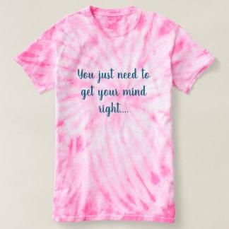 Popular ladies pink tie-dye T-Shirt