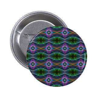 Popular Lavender Green Neon Pattern 6 Cm Round Badge