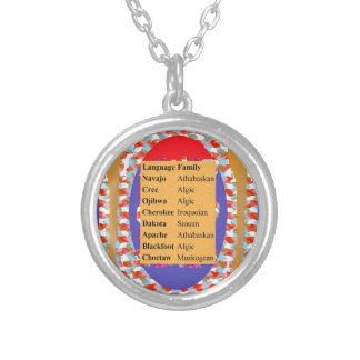 Popular Native American Languages List: Be PROUD Round Pendant Necklace