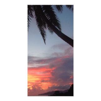 Popular photo card.>Sunrise in Paradise Personalised Photo Card