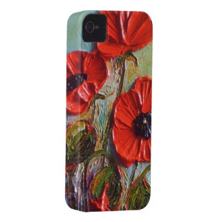 Popular Red Poppies iPhone 4 Case