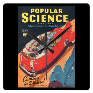 Popular Science Monthly, June, 1940_Pulp Art Wallclocks