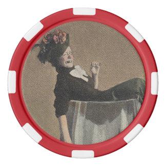 Popular Vintage Party Girl Wine Glass Poker Chips