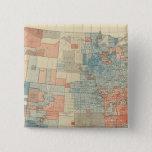 Popular vote 1880 15 cm square badge