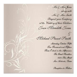 "Popular Wedding Invitation 5.25"" Square Invitation Card"
