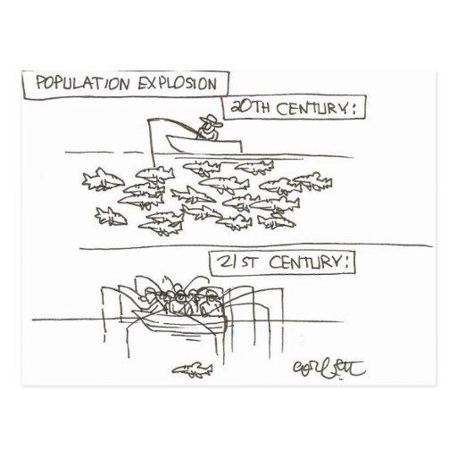 Population Explosion: 19th vs 20th century Postcards