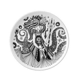 Porcelain Art Plate Gingerbread Sea Witch