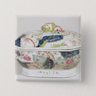 Porcelain dish, 18th century 15 cm square badge