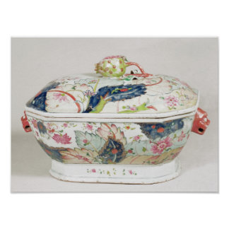 Porcelain dish, 18th century poster