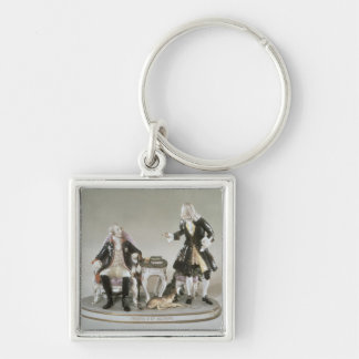 Porcelain figure of Frederick II of Prussia Key Ring