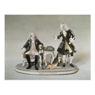 Porcelain figure of Frederick II of Prussia Postcard