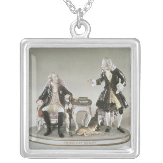 Porcelain figure of Frederick II of Prussia Silver Plated Necklace